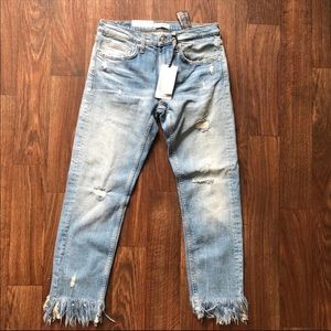 NWT ZARA Premium Collection Slim Boyfriend Jeans